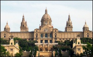 Palau Nacional, Barcelona, Spain, Catalunya, view, travel