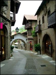 Poble Espanyol, Spanish Village, streets, architecture, Barcelona, Spain, Catalunya, view, travel