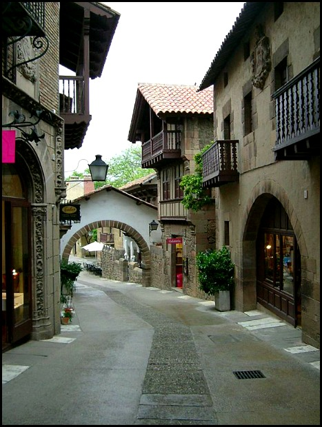 Poble Espanyol, Spanish Village, streets, architecture, Barcelona, Spain, Catalunya, view, travel