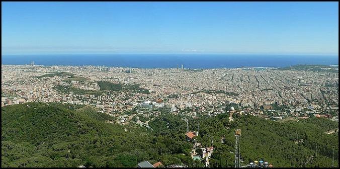 Tibidado, El Tibidado, Barcelona, Spain, Catalunya, view, travel