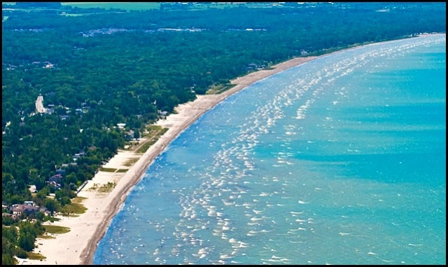 Aerial View, Wasaga Beach, Ontario, Canada, travel, beach, water, photography