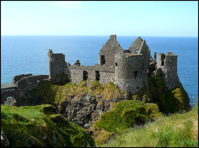 Dunluce Castle, castle, Northern Ireland, travel, view,