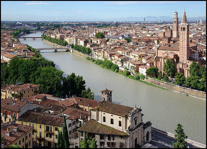 Verona, Italy, travel, photography, view, view of Verona from Castel San Pietro
