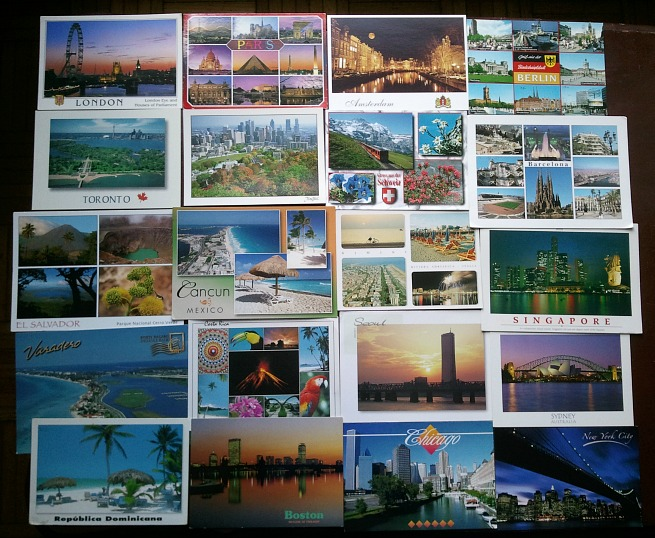 Postcards, world postcards, postcards from around the world, cartas postales, cartes postales, travel