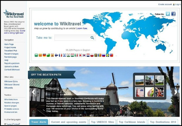 Wikitravel, search site, wiki, travel, photography