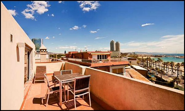 Barcelona Apartments, Barcelona, Catalunya, Balcony, view of Barceloneta, travel, photography, hospitality, apartment rental