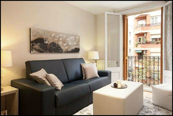 Barcelona Apartments, Barcelona, Catalunya, Living Room Area, Travel,  Photography, Hospitality