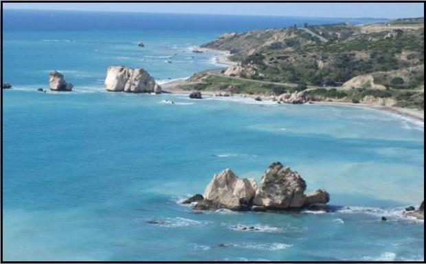 Cyprus, Aphrodite Rock, attraction in Cyprus, rock, travel, Mediterranean, Photography