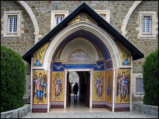 Cyprus, Kykkos Monastery, Entrance, religious building, travel, photography