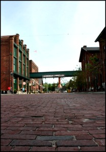 View, sidewalk, Distillery District, Gooderham & Worts, Toronto, Ontario, Canada, travel, photography, travellersoul76