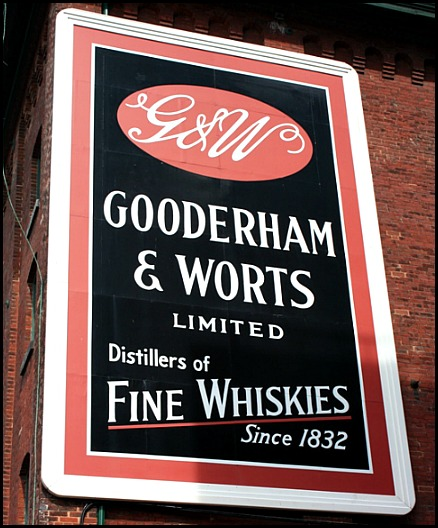 Gooderham & Worts sign, Distillery District, Toronto, Ontario, Canada, travel, photography, travellersoul76