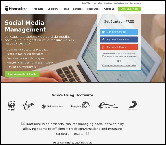 Hootsuite, dashboard, social media management, SoMe