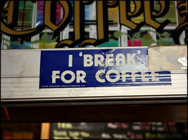 I break for coffee, Lubas Gourmet, coffee, coffee shop, coffee sign, St Lawrence Market, Toronto, Ontario, travel, photography, travellersoul76
