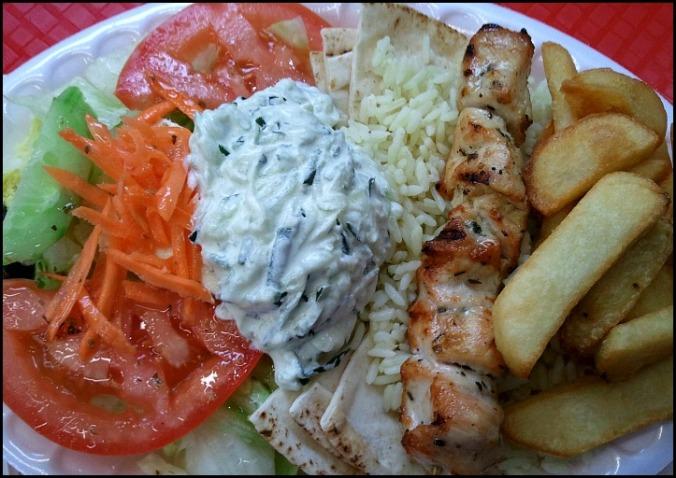 Greece, Greek food, Souvlaki, Souvlaki platter, food, foodie, food porn, food photos, travel, travellersoul76, photography
