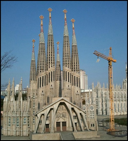 Barcelona, Spain, Sagrada Familia, Miniature, Aiins World, Bucheon, South Korea, Theme Park, travel, photography, TS76