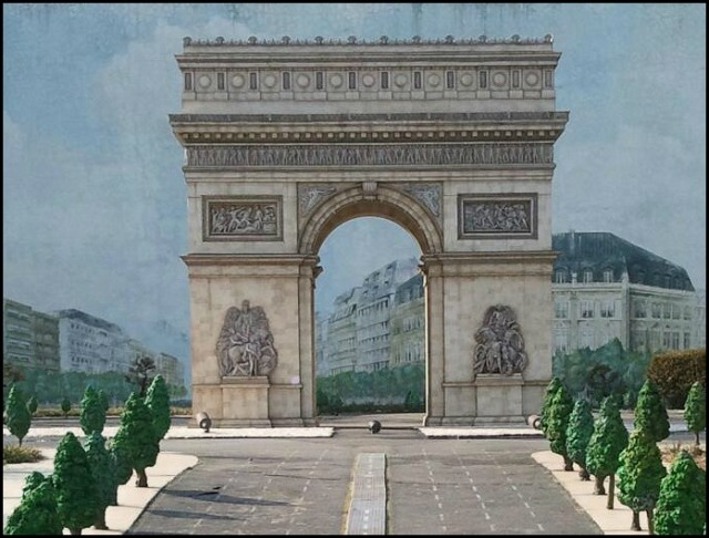 Arc De Triomphe, Paris, France, Miniature, Aiins World, Bucheon, South Korea, Theme Park, travel, photography, TS76