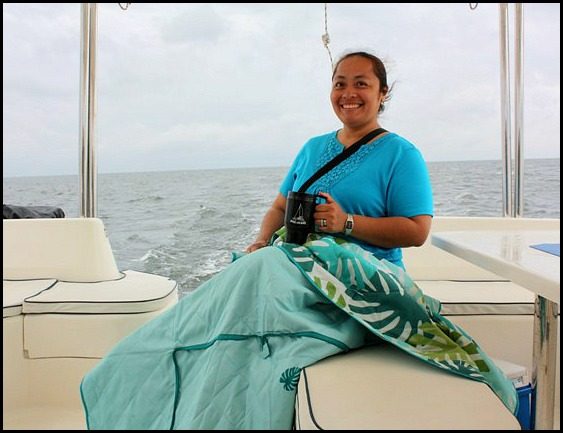 Smoke and Roses, Catamaran, SW FL, Florida, sailing, private charter, Charlotte Harbor, travel, TS76, blanket & hot chocolate
