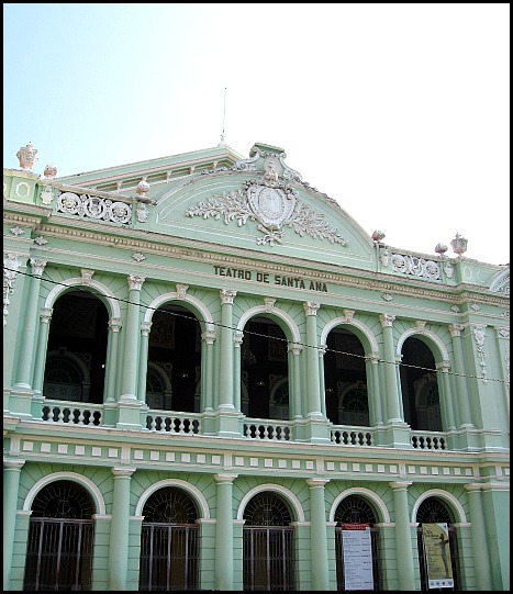 Main façade of Teatro de Santa Ana in El Salvador
