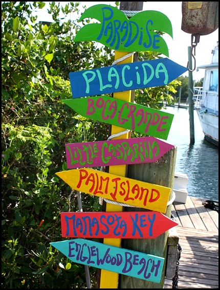 Directions, sign, Margaret Albritton Gallery, Placida, Florida, travel, art, SW Florida, Charlotte Harbor & the Gulf Islands, Florida, travel, photography, TS76, outdoors