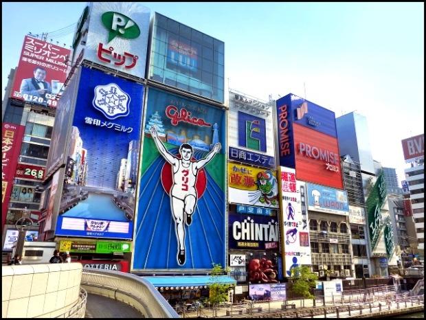 Dotonbori, Osaka, Japan, travel, photography, Japanese neon signs