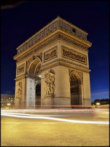 Arc de Triomphe, arch, architecture, Paris, France, travel, photography