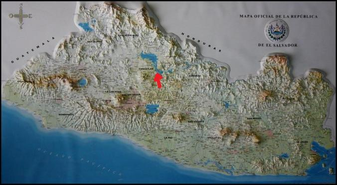 map, mapa, El Salvador, Centro America, Central America, Relief map