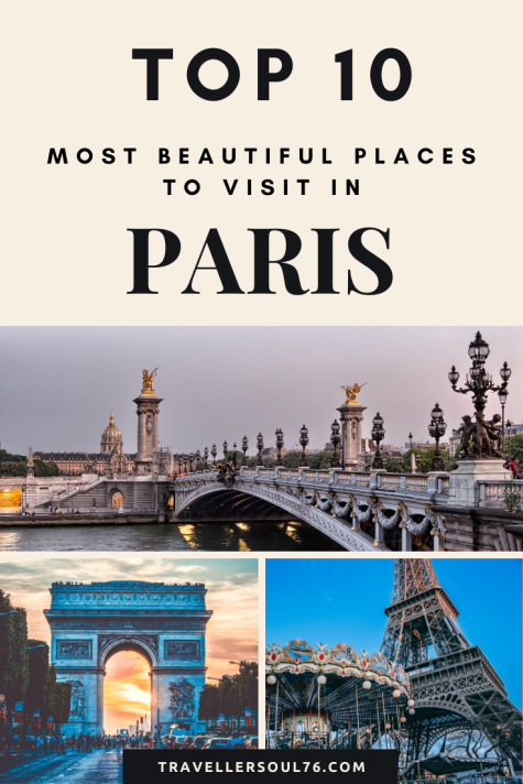 The city of lights is always alive and is a magnet for visitors from around the world. Come check the Top 10 most beautiful places to visit in Paris, France. #travel #Paris #France #Europe #top10 #travelblog