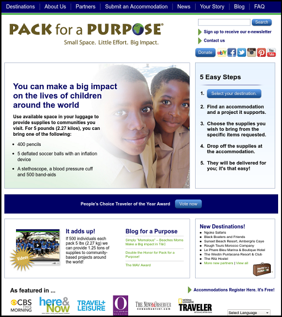 Pack For a Purpose, travel to do good, social good, great cause, community, global community, travel