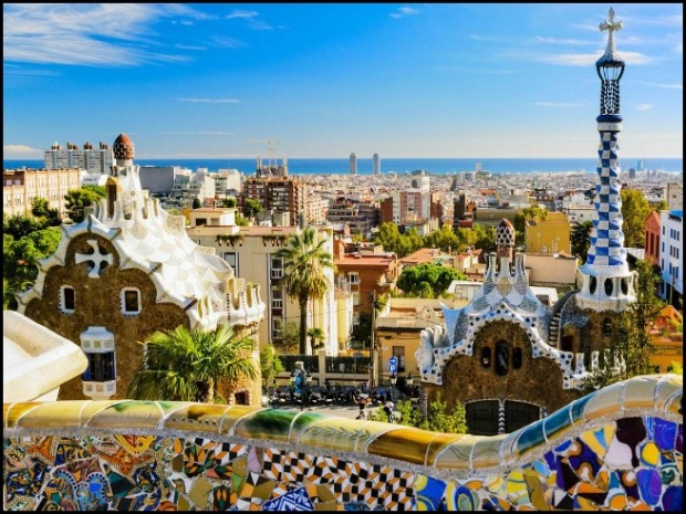 Parc Güell, Güell Park, Barcelona, Catalunya, Spain, architecture, travel, photography