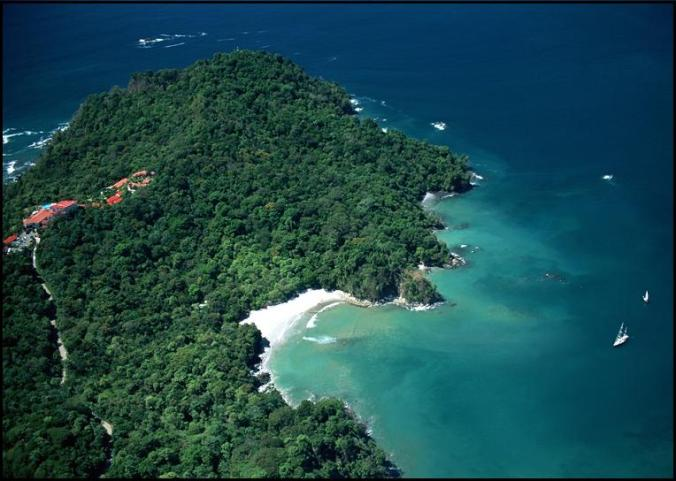 Aerial view, Biesanz Beach, Parador Resort &Spa, Costa Rica, Tiquicia, Central America, Centro America, travel, photography