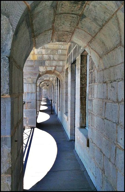 Fort Henry, Kingston, Ontario, architecture, travel, photography, arches, TS76