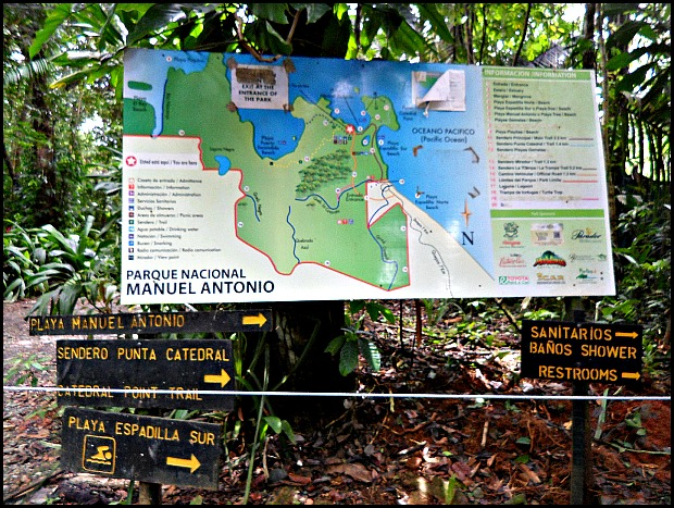 Parque Nacional Manuel Antonio, Costa Rica, Park, nature, Manuel Antonio National Park, Map, travel, photography, TS76