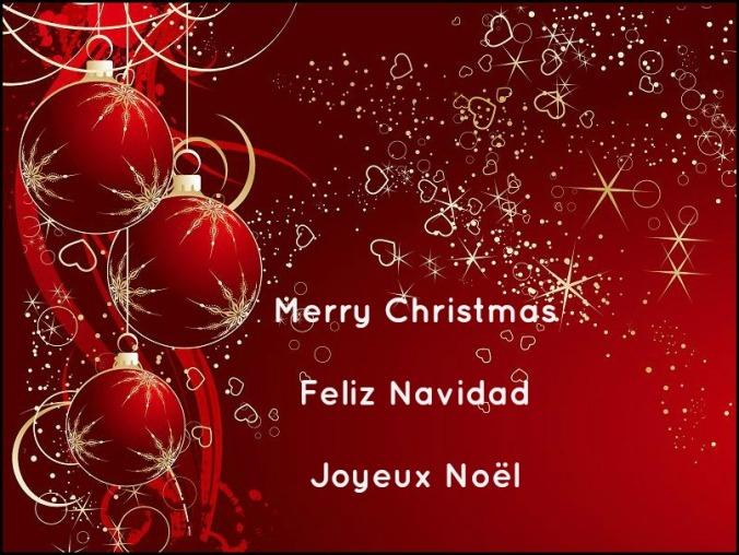 Christmas card, red christmas card, greeting card