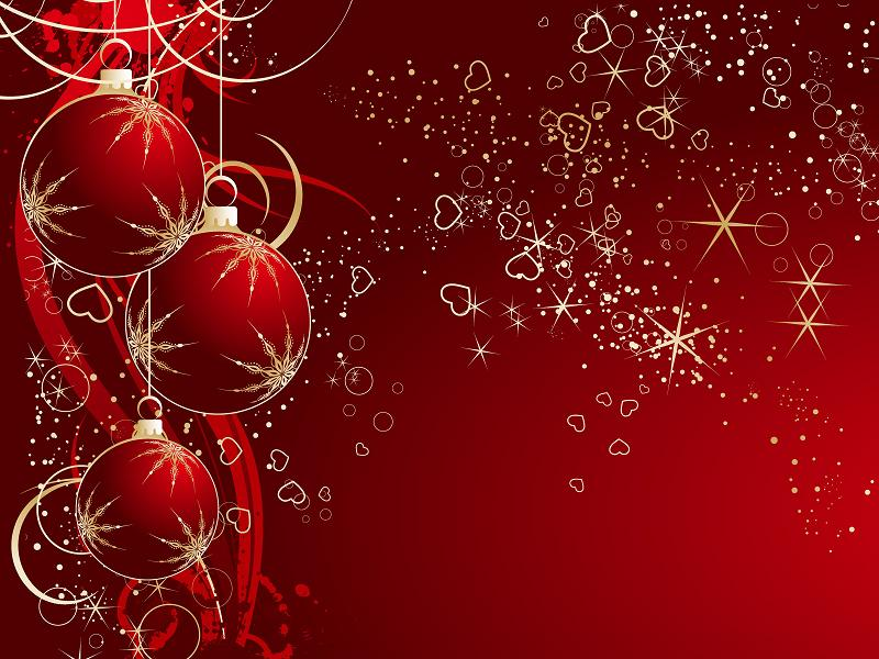 Red wallpaper, Christmas, Wallpaper