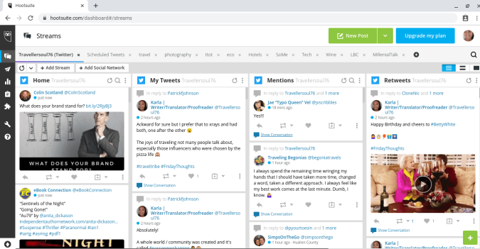 Hootsuite is a social media management tool that allows you to post updates to Twitter, Facebook, Instagram and more! #socialmedia #hootsuite #socialmediamanagement