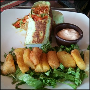 veggie wrap, yucca frita, foodie, food porn, gourmet food, Parador Resort and Spa, Costa Rica, travel, photography, TS76