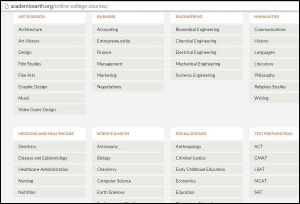 Academic Earth, free online, education, education site, learning