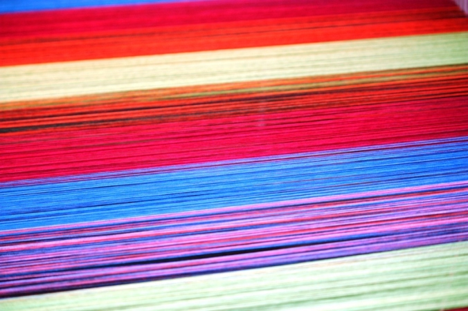 closeup, colorful threads, weaving, San Sebastian, El Salvador, central america, ruta artesanal, travel, photography