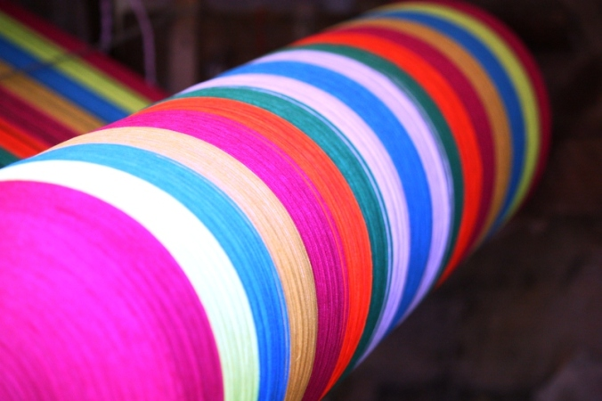 colorful threads, weaving,  San Sebastian, El Salvador, central america, ruta artesanal, travel, photography
