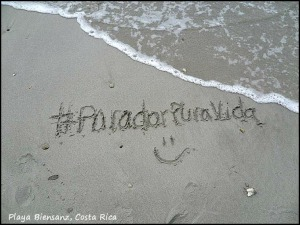 #ParadorPuraVida, sand, writing on the sand, Parador Resort and Spa, Costa Rica, travel, photography