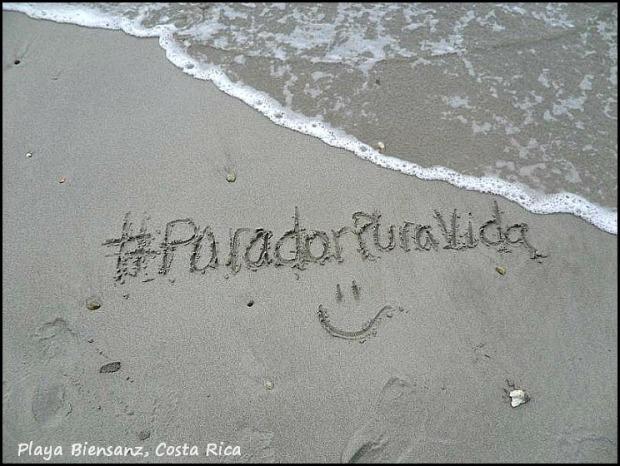 #ParadorPuraVida, sand, writing on the sand, Parador Resort and Spa, Costa Rica, travel, photography