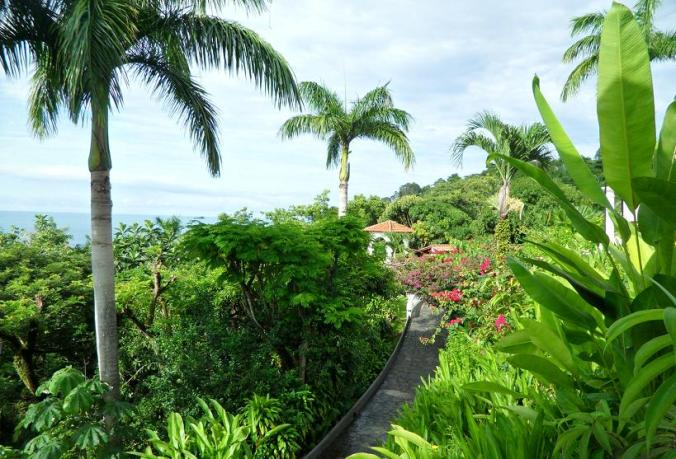 hotel, garden, path, view, Punta Quepos, Parador Resort and Spa, Costa Rica, travel, photography