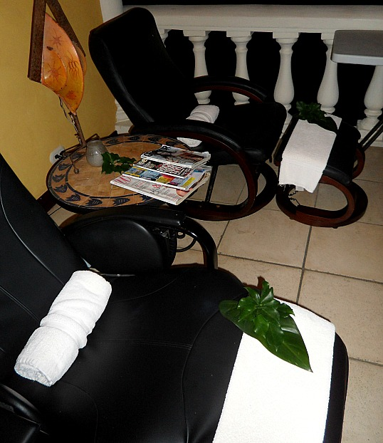 Pedicure chairs, Pacifica Spa, Parador Resort and Spa, Costa Rica, travel, photography