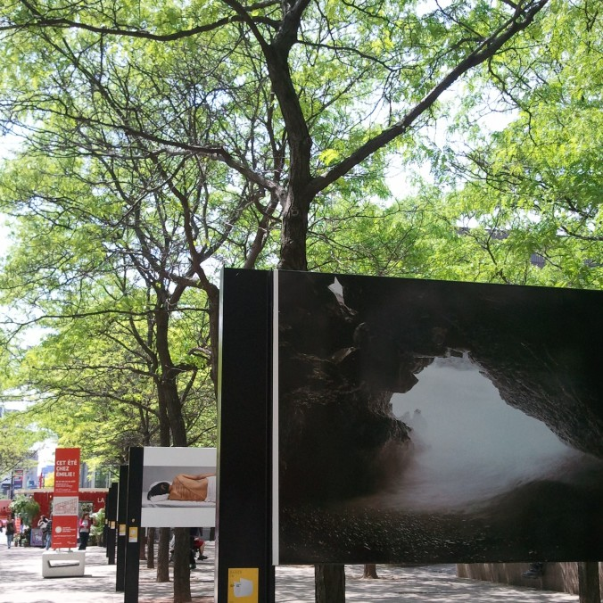 photo exhibition, Ste-Catherine street, Montreal, Quebec, Canada, photography, TS76