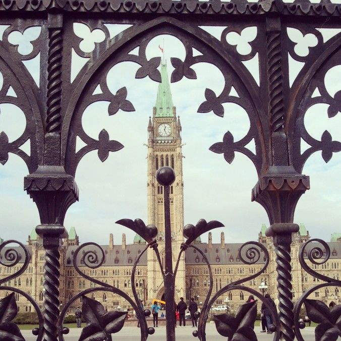 Iron gate, Parliament Hill, view, Ottawa, Ontario, Canada, November 2014, travel, photography, TS76