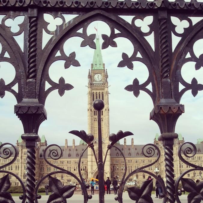 Iron gate, Parliament Hill, view, Ottawa, Ontario, Canada, November 2014, travel, photography, TS76