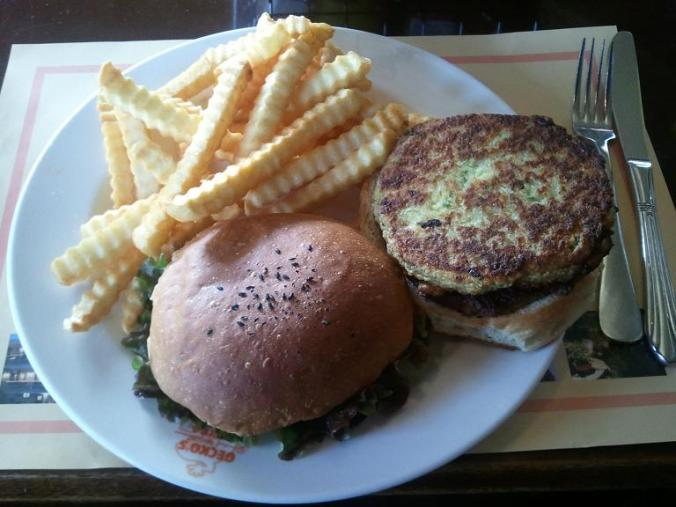 Vegetarian, veggie, veggie burger, french fries, foodie, food pics, photography, TS76