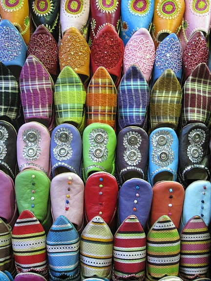 shoes, colorful shoes, Fez,Morocco, Maroc, travel, photography