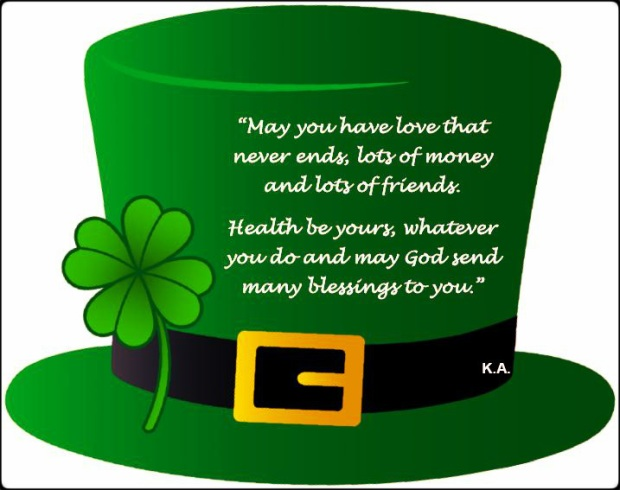 Saint-Patrick's Day, St-Patrick, St-Paddys, Green hat, four leaf clover, Irish blessings, luck of the Irish, Ireland blessings