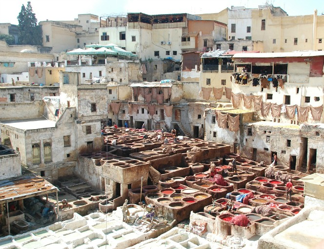 Leather, leather tanning, Fez,Morocco, Maroc, travel, photography